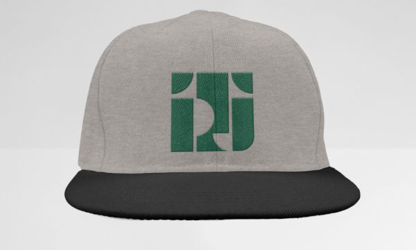 Heather/Black Classic Snapback Style with TPJ Logo in Dark Green
