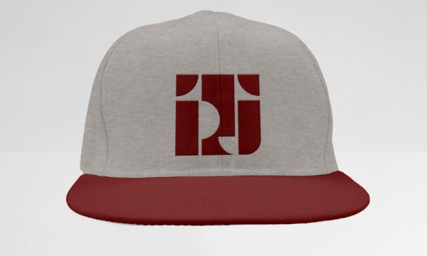 Heather/Maroon Classic Snapback Style with TPJ Logo in Burgundy